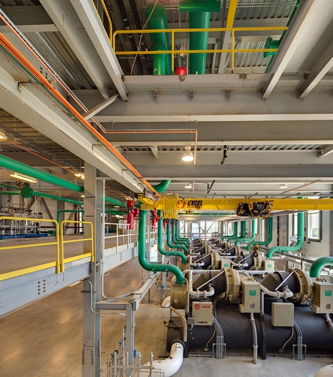 Image of pipes in a factory